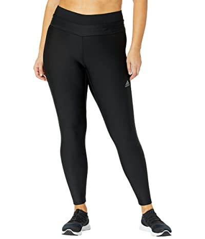 adidas Plus Size Alphaskin Cold.Rdy Tights (Black) Women