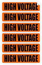 High Voltage Volt Markers | Labels for Conduit PVC Pipe | Vinyl Stickers | Decals | Electrical 6x
