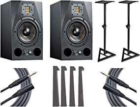 Adam A7X Studio Monitor Pair + Ultimate Speaker Stands + Mopads + Mogami Cables