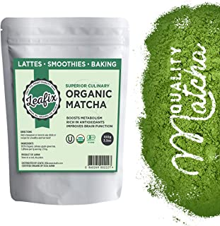 Leafix Matcha Green Tea Powder: Best Japanese Premium Grade Matcha Tea | Usda Organic | Superior Quality | Great For Smoot...
