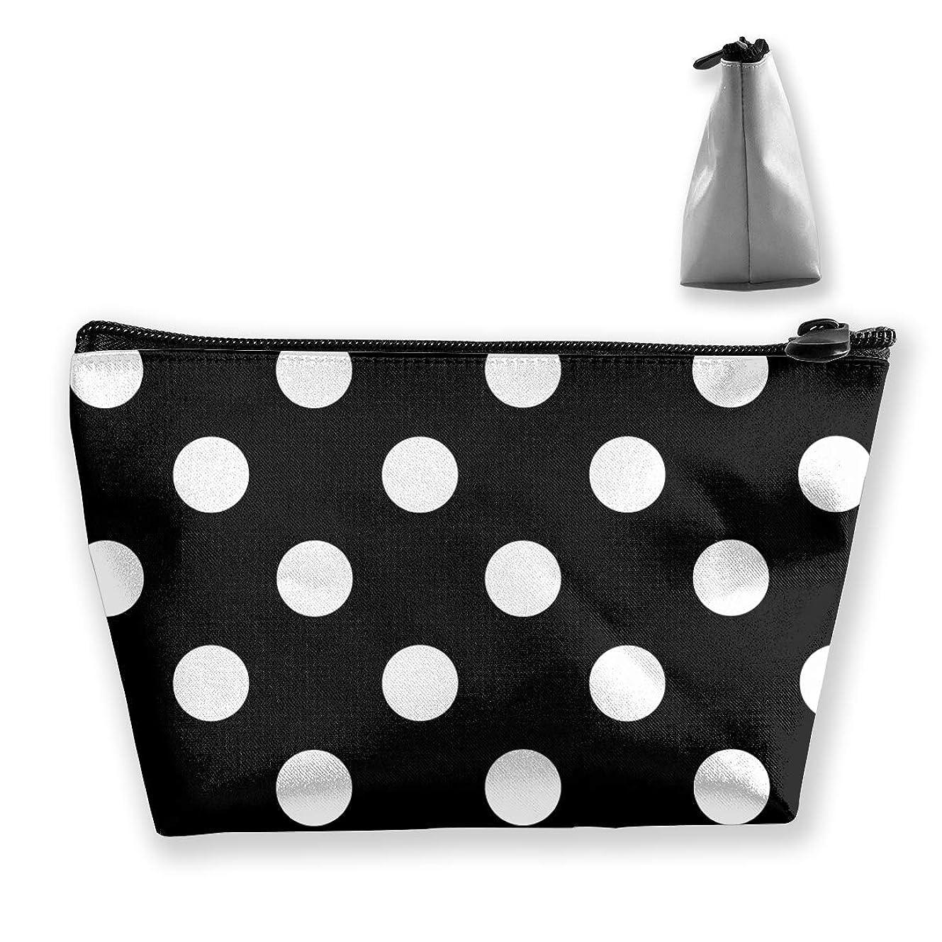 白の水玉 ペンケース文房具バッグ大容量ペンケース化粧品袋収納袋男の子と女の子多機能浴室シャワーバッグ旅行ポータブルストレージバッグ