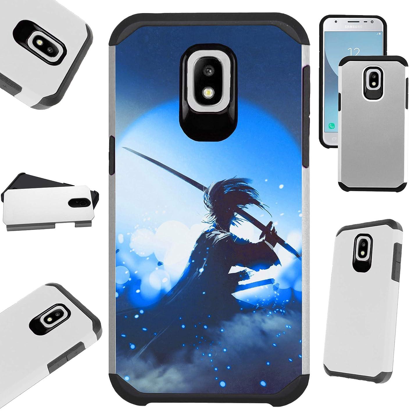 for Samsung Galaxy J7 V J737 (2018) | J7 Crown | J7 Aero | J7 Refine | J7 Aura | J7 Top | J7 Star | J7 Eon Case Hybrid TPU Fusion Phone Cover (Blue Samurai)
