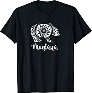 Montana T-Shirt Grizzly Yellowstone Glacier National Park