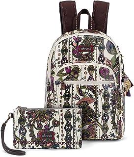 Sakroots Artist Circle Mini Backpack W/Phone Charging Wristlet Backpack