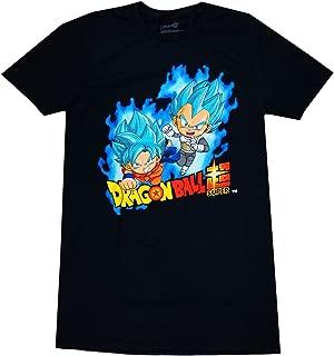 Dragon Ball Z Men's Dragon Ball Super SD SSGSS Super Saiyan Blue Goku & Vegeta T-Shirt