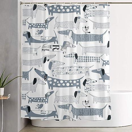 MAHENSHANGM Dachshund Dogs Shower Curtain Durable Bath Curtains Decor Set 60 X 72 inch