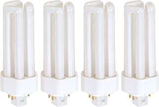 (Pack of 4) 26 Watt Triple Tube - GX24Q-3 (4 Pin) Base -3500K White - CFL Light Bulb - Replaces Sylvania 20881 CF26DT/E/IN...