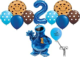 Cookie Monster Balloon Pack for 2nd Birthday