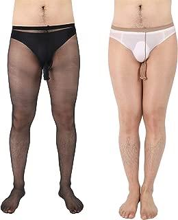 Men's Glossy Tights Pantyhose Open Sheath