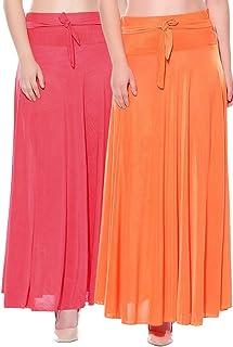 Mixcult Dam kombination med 2 st solida crepe fulllängd utsvängda kjolar
