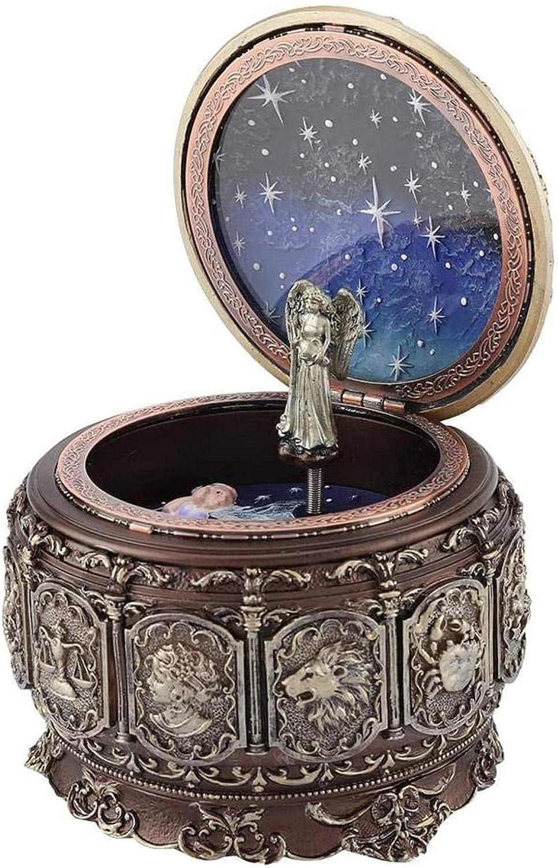 BHDD Vintage Kansas City Mall Music Box with Constellations safety Goddess Rotating 12