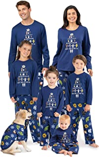 PajamaGram Star Wars Christmas Pajamas - Matching Christmas PJs for Family, Blue