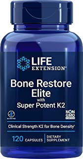 Life Extension Bone Restore Elite with Super Potent K2, 120 Count