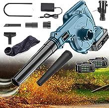 Draadloze Bladblazer En Vacuüm 2-in-1 21v Elektrische Handheld Elektrische Blower Met Lithium Batterij En Oplader Voor Bla...