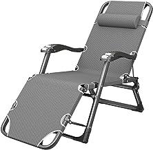 Ligstoelen Opvouwbare Lounge Stoel voor Slaapkamer Woonkamer, Draagbare Oversized Fauteuil Patio Stoelen voor Zware Mense...