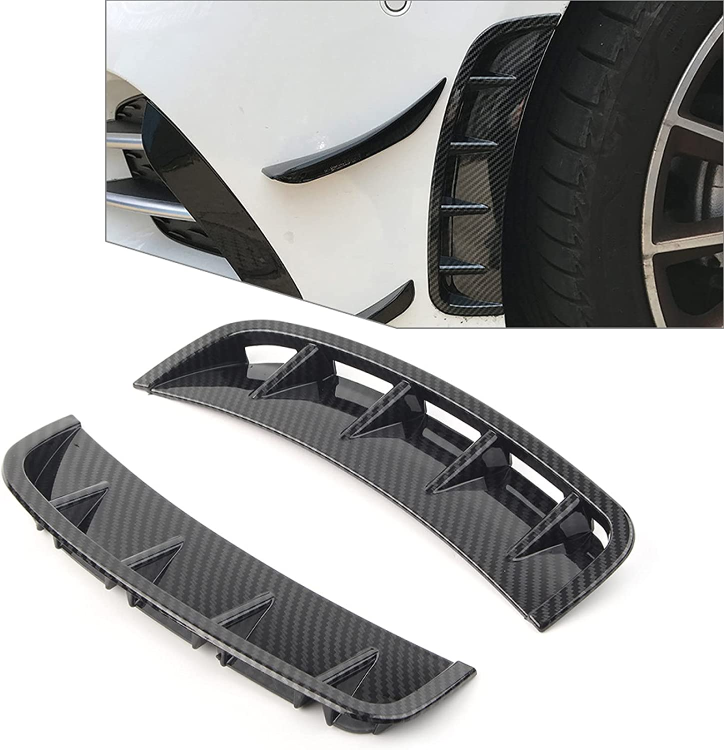 2Pcs 67% OFF of fixed price ABS Car Front Wheel Air Vent Ben Fender Decor for Trim Hood Max 83% OFF