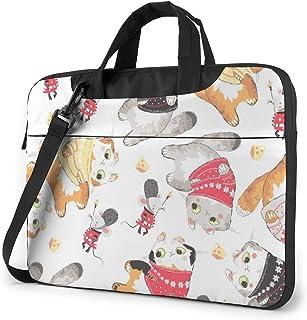 """Guard Uniform and Cat Laptop Bag Protective Case Computer Messenger Briefcase Women Men 13"""""""