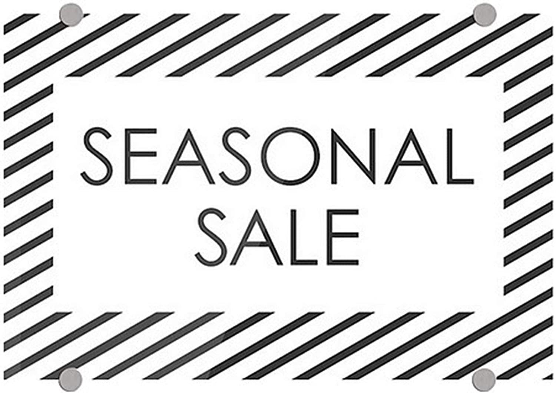 CGSignLab Seasonal Sale Stripes White Premium Brushed Aluminum Sign 27x18