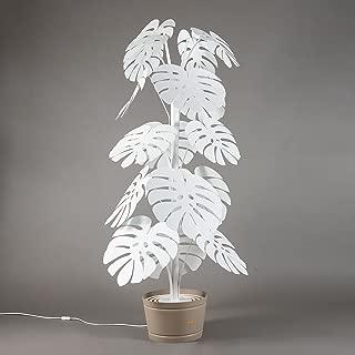 ARTI E MESTIERI lámpara de pie lámpara de pie Monstera grande blanca planta de metal