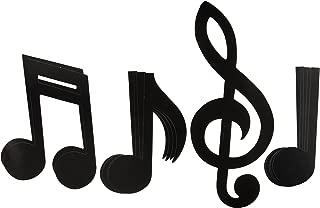 Musical Note Silhouettes (black)    (12/Pkg)