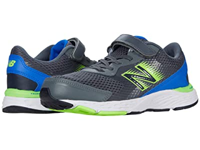 New Balance Kids 680v6 Bungee (Little Kid/Big Kid) (Lead/Cobalt) Boys Shoes