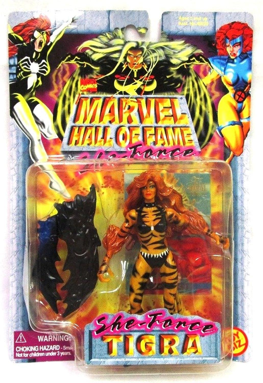 Obtén lo ultimo Marvel TIGRA Comics Hall Hall Hall of Fame She-Force Serie 1997 Figura de acción y coleccionista Tarjeta de Comercio  calidad de primera clase