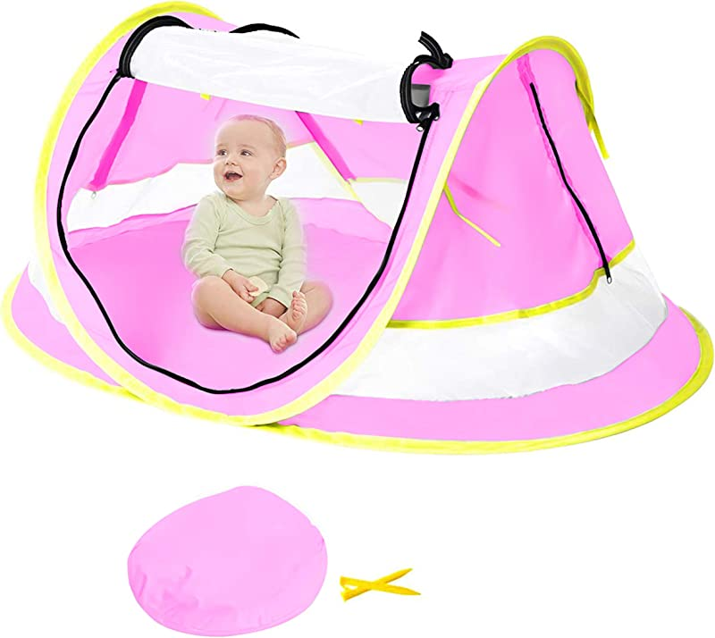 NEQUARE Baby Beach Tent Portable Pop Up Tent UPF 50 Sun Shelters Baby Shade With Mosquito Net Sun Shade For Girls Boys Beach Umbrella For Infant