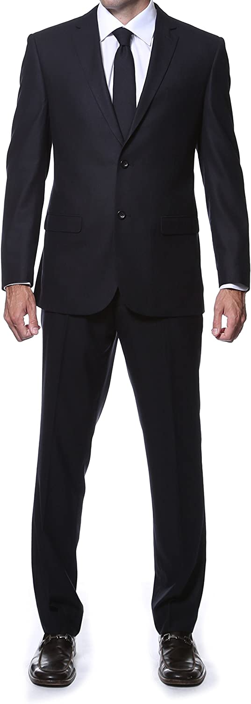 Ferrecci Men's Hunter Tone on Tone Plaid 2pc Suit