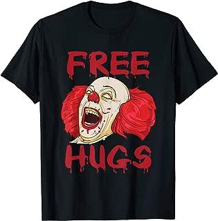 Free Hugs Halloween Evil Killer Scary Clown Horror Gift T-Shirt