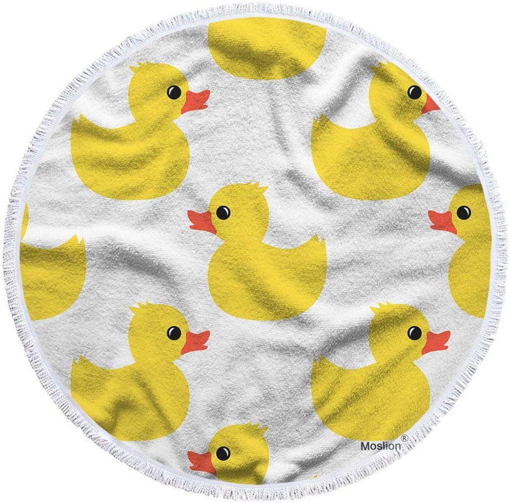 Moslion Duck Beach Towel Max 62% OFF Rare Blanket Yellow Rubber Cute Animal