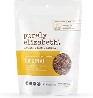 purely elizabeth Ancient Grain Granola, Original, 3 Count, 12 Ounce (Pack of 3)
