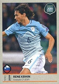 2017 Panini Road to 2018 FIFA World Cup Russia #248 Rene Krhin Slovenia Soccer Sticker
