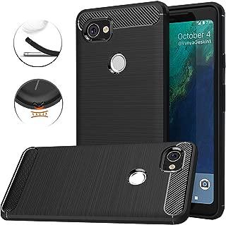 Google Pixel XL 2 Case,Google Pixel XL2 Case, Dretal Carbon Fiber Shock Resistant Brushed Texture Soft TPU Phone case Anti-fingerprint Flexible Full-body Protective Cover For Google Pixel 2 XL (Black)