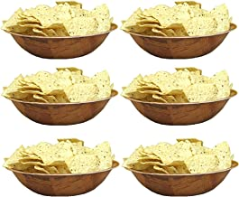 """Round Woven Wood Snack or Salad Bowl: 10"""", Set of 6"""