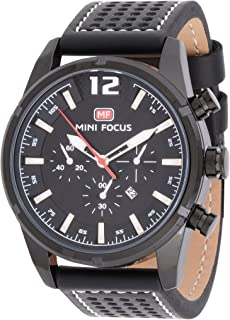 Mini Focus Mens Quartz Watch, Analog Display and Leather Strap - MF0005G.02