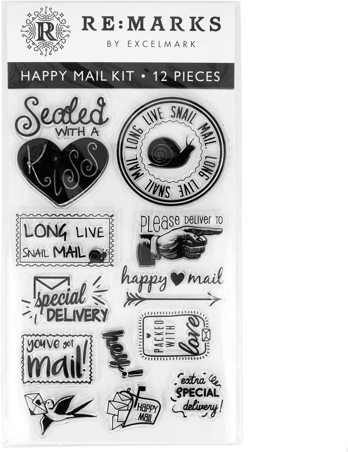 Ranking TOP18 Cling Stamp Set Jacksonville Mall Happy Mail