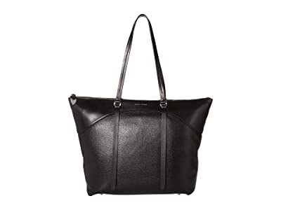 Rebecca Minkoff Signature Top Zip Tote (Black) Handbags