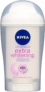 Nivea Extra Whitening Antiperspirant Stick 40ml (Pack of 3)