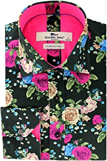 Claudio Lugli Womens//Mesdames satin chemise en coton-tournesol Imprimé