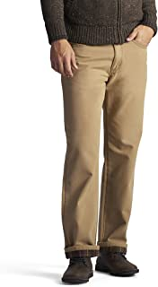 Men's Fleece and Flannel Lined Relaxed-Fit Straight-Leg Jeans