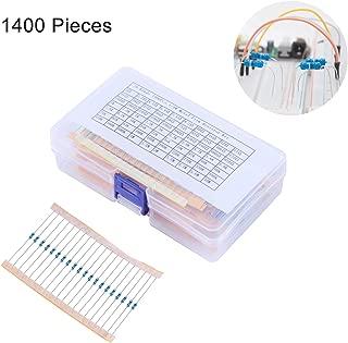 Golden^Li Resistor Assortment Kit, 1400pcs 70 Values 1% Electronics 1/4W Metal Film Resistor Assorted Kit, 1 Ohm-10M Ohm Resistors Set with Storage Box for DIY Projects Arduino, Respberry Pi Projects