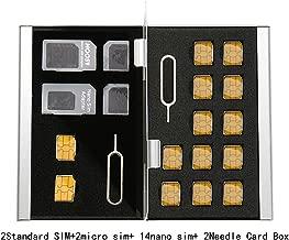 حاملات بطاقات SIM Myymee + 8 حاملات بطاقات شريحة صغيرة، جراب معدني من سبائك الألومنيوم وحامل بطاقات SD للهاتف المحمول، جراب تخزين بطاقات الذاكرة فضي, S