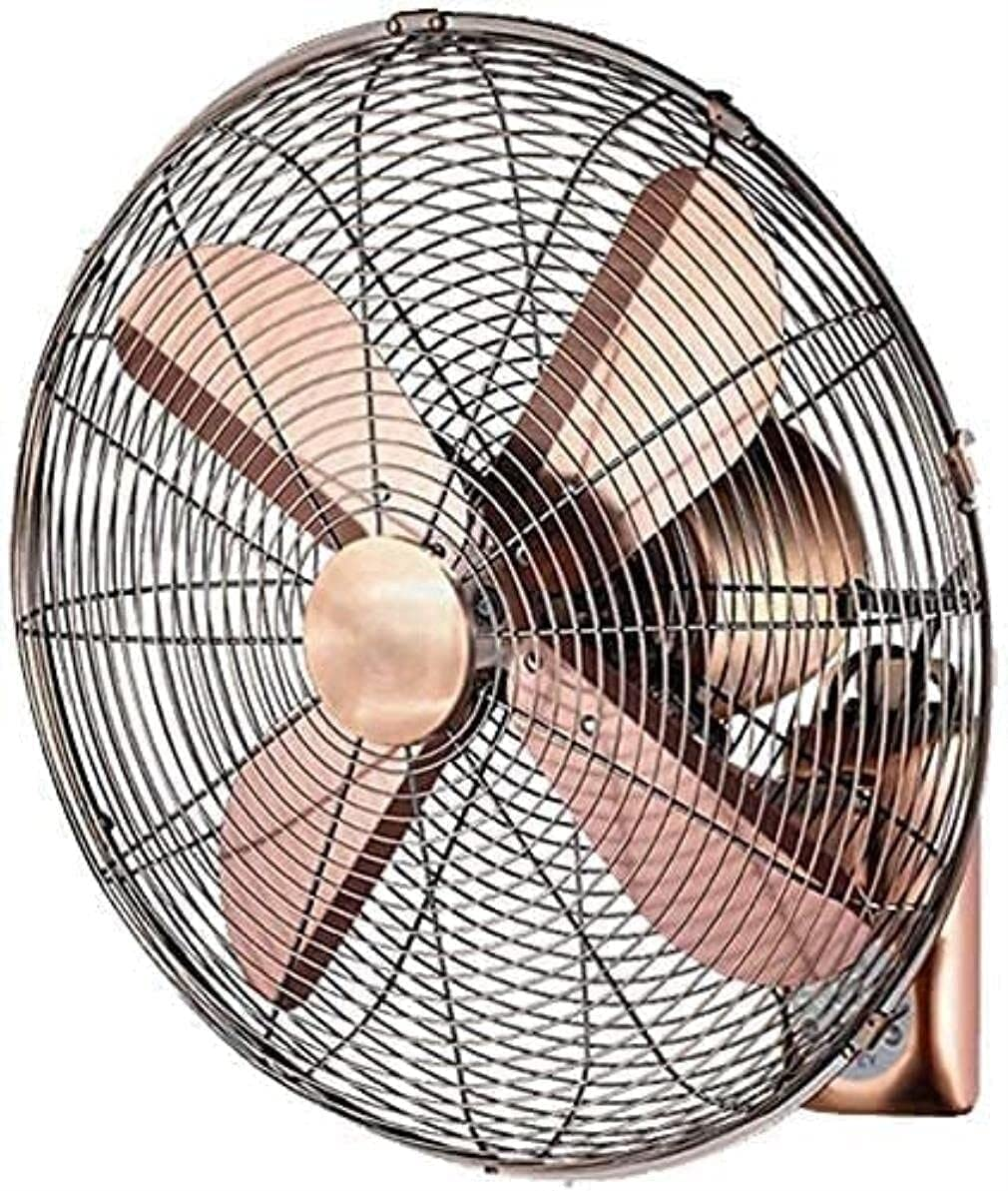 YZPDD Ventilador eléctrico del Ventilador de Montaje en Pared/Retro Antique Metal Wall Fan/Control Remoto Swing Ventilador, Industria doméstica con Control Remoto (Tamaño: 14 Pulgadas)