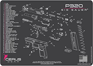 Cerus Gear Sig Sauer P320 Schematic Promat, Charcoal Gray/Pink