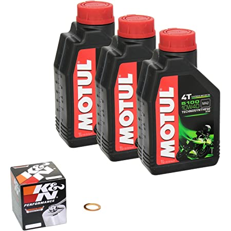 Motul 5100 10w 40 Ölwechsel Set Yamaha Mt 07 Bj 2014 Motoröl K N Chrom Ölfilter Und Dichtring Auto