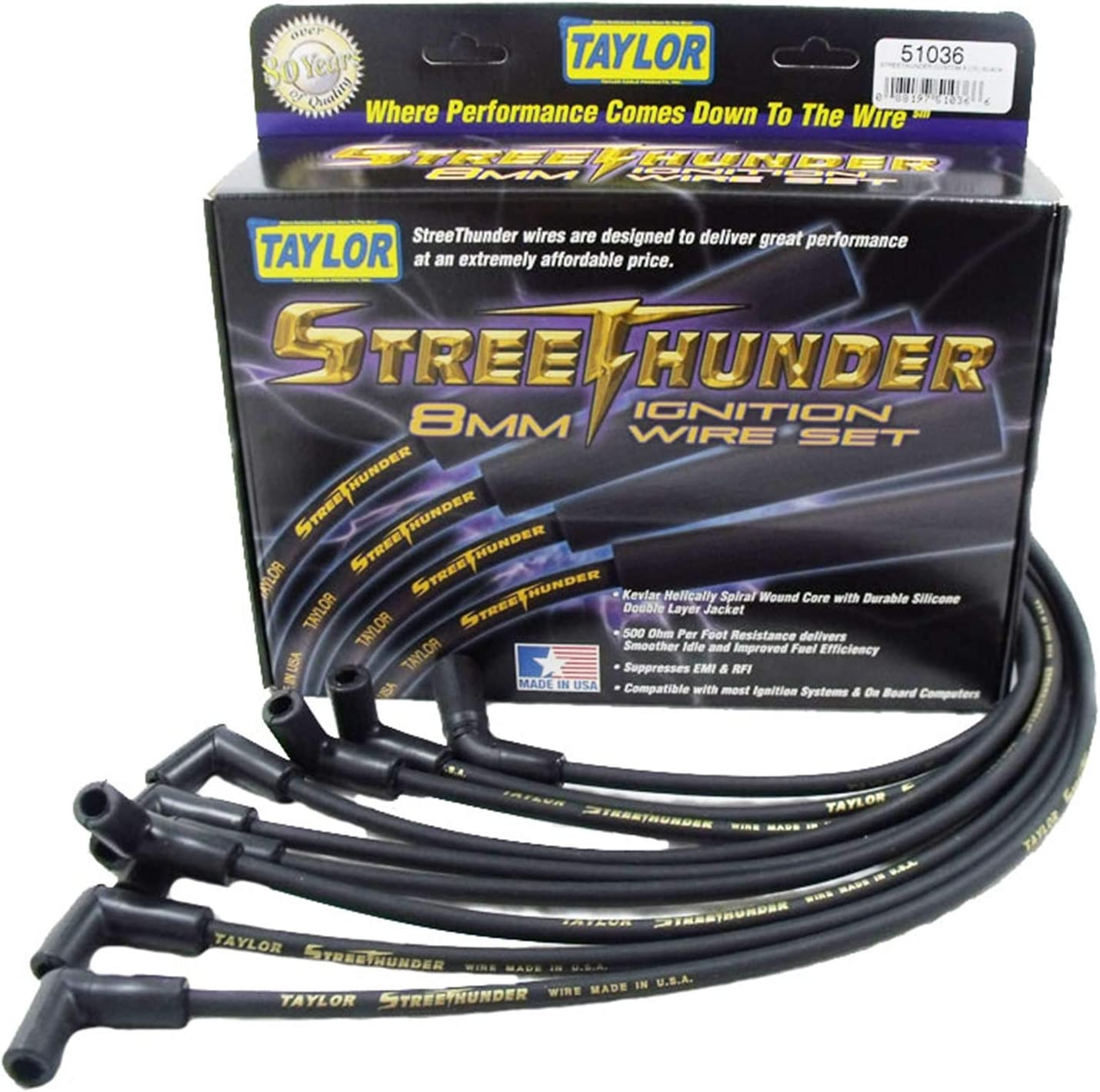 Taylor Cable 51036 Ignition 1 Wire Pack unisex High quality new Set
