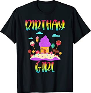 Candy Land Birthday Party Ice Cream Cupcake Sweet Shirt