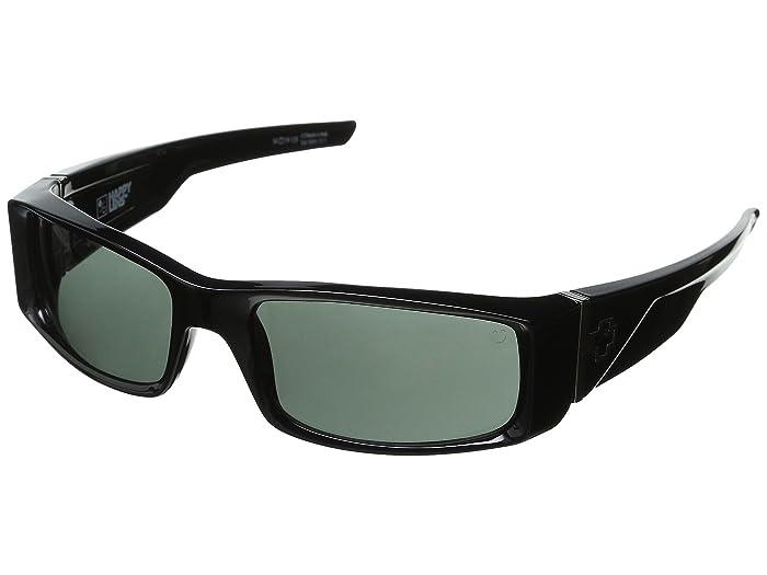 Spy Optic Hielo (Black/Happy Gray Green) Plastic Frame Fashion Sunglasses