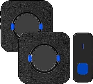 Wireless Doorbell,Rimposky Waterproof Door Bells & Chimes Wireless Kit,Over 300-Meter Range,55 Door Bell Chime,5 Volume Le...