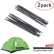 BEST BEST DEAL Replacement Tent Poles Aluminum Alloy Tent Poles Adjustable Tent Pole Replacement Accessories for Camping Hiking 2 Pack